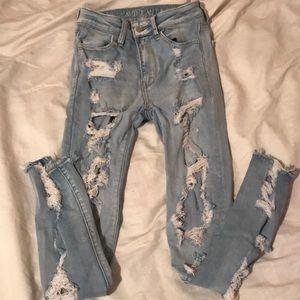 American eagle jeans 00 short